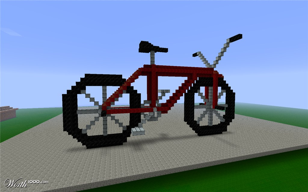 how to make a motorcycle in minecraft that works