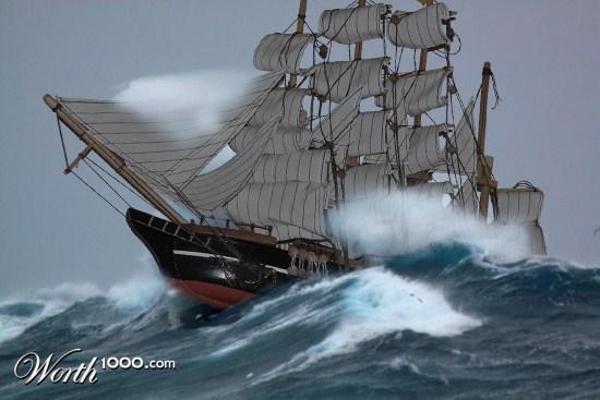Alfa Img  Showing Gt Big Ships In Heavy Seas
