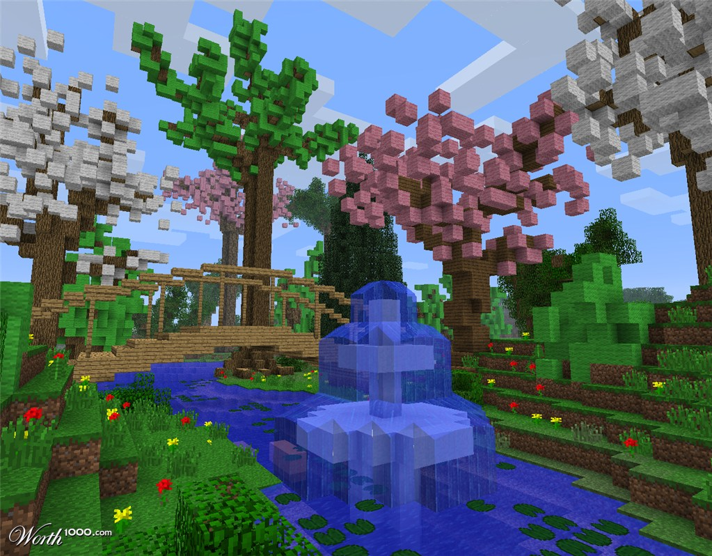 My little garden worth1000 contests for Garden designs minecraft