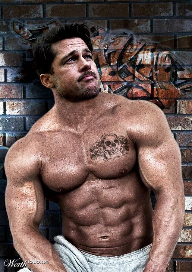 Brad Pitt Muscles - Worth1000 Contests