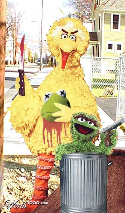 Evil Big Bird Big Bird gone bad