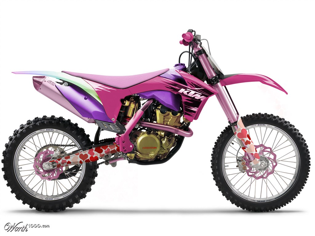 Girl on dirt bikes