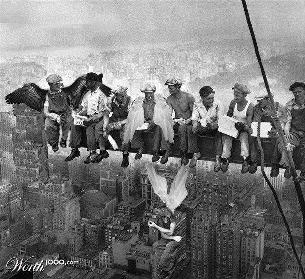 Rockefeller Plaza Men On A Girder