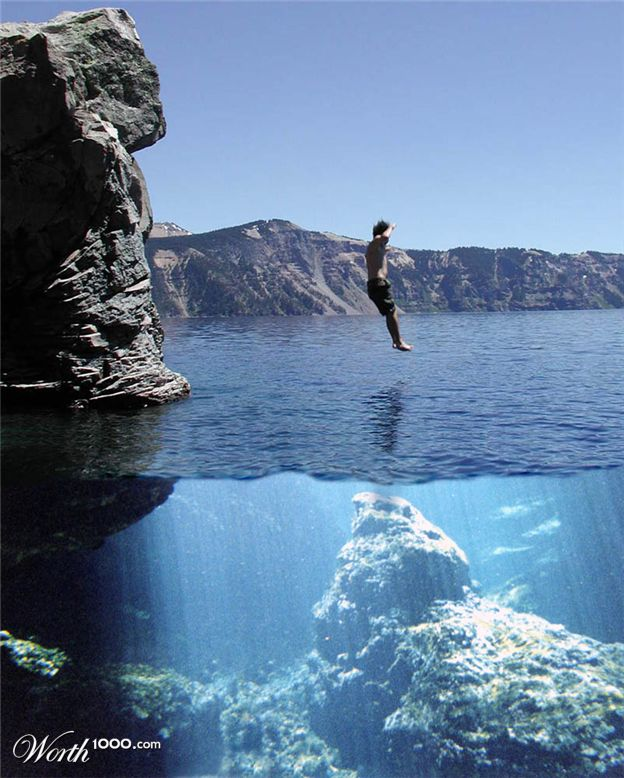 Underwater  Cliff Underwater Cliff Diving