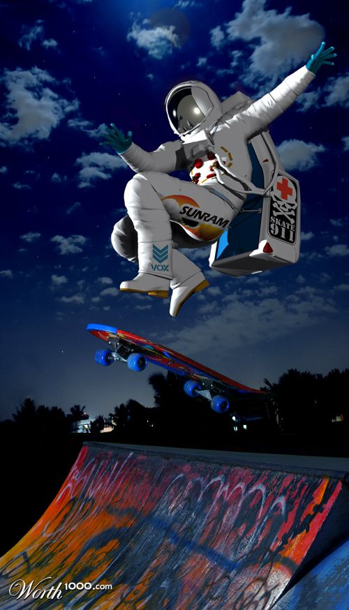 astronaut skateboarding - photo #1