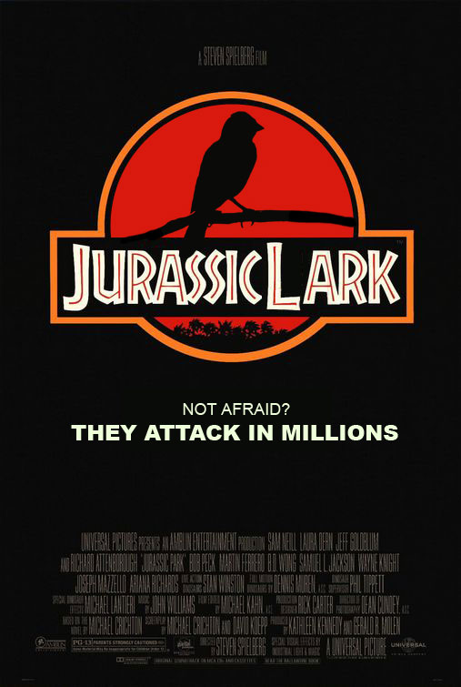 Jurassic Lark One letter off DesignCrowd