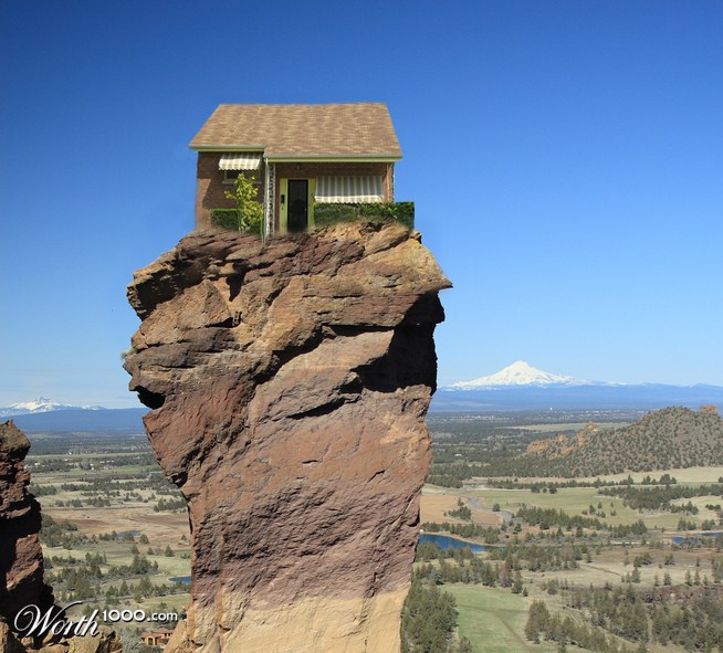 Rock house worth1000 contests for Building a house in oregon