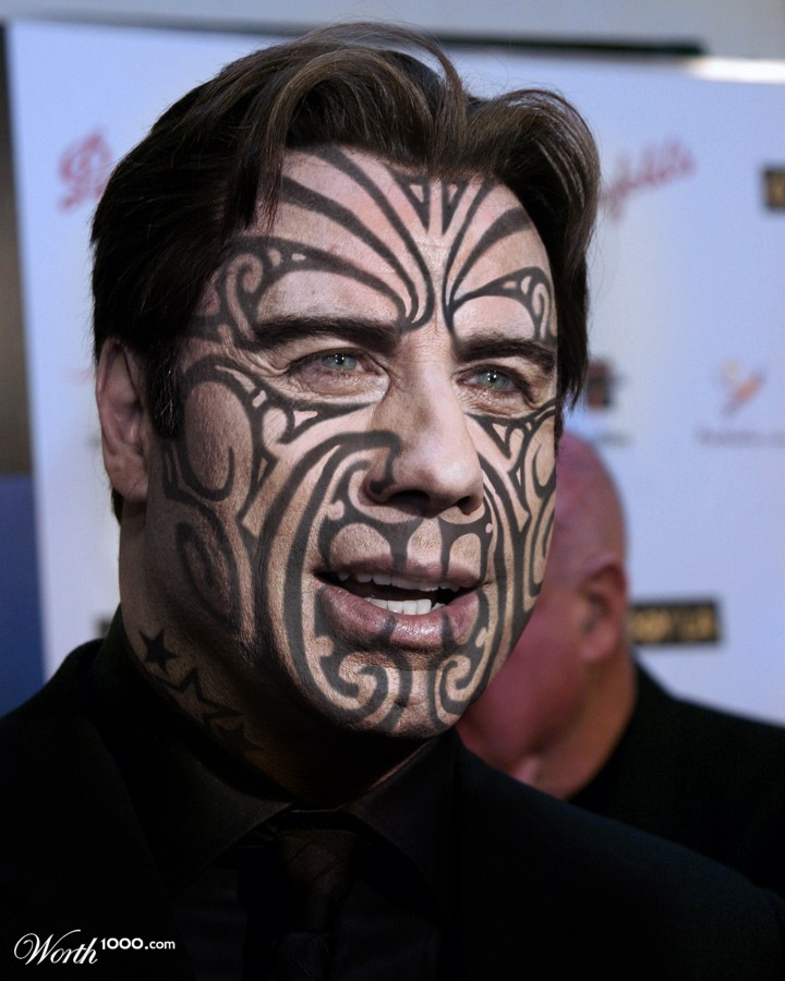 travolta maori warrior worth1000 contests. Black Bedroom Furniture Sets. Home Design Ideas