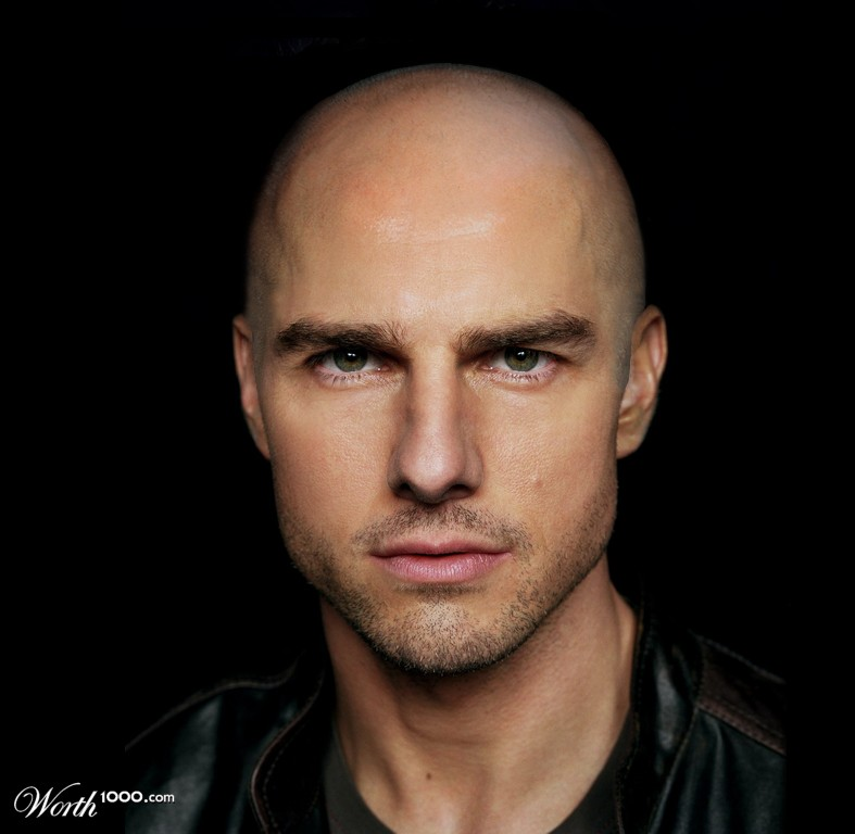 bald Tom cruise