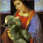 Madonna Leia & Baby Yoda