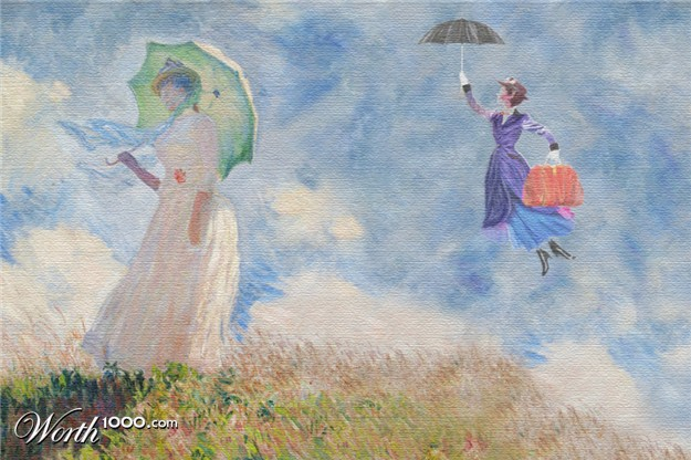 Woman Umbrella Monet Monet's Painting of Woman