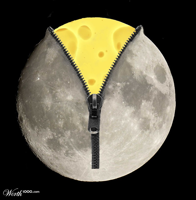 is the moon made of cheese