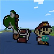 Yoshi and Small Mario