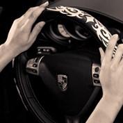 A scene in a car