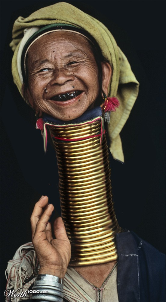 African Women With Rings Around Her Neck