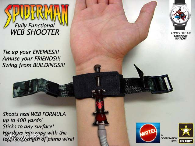 Как сделать веб-шутер человека паука