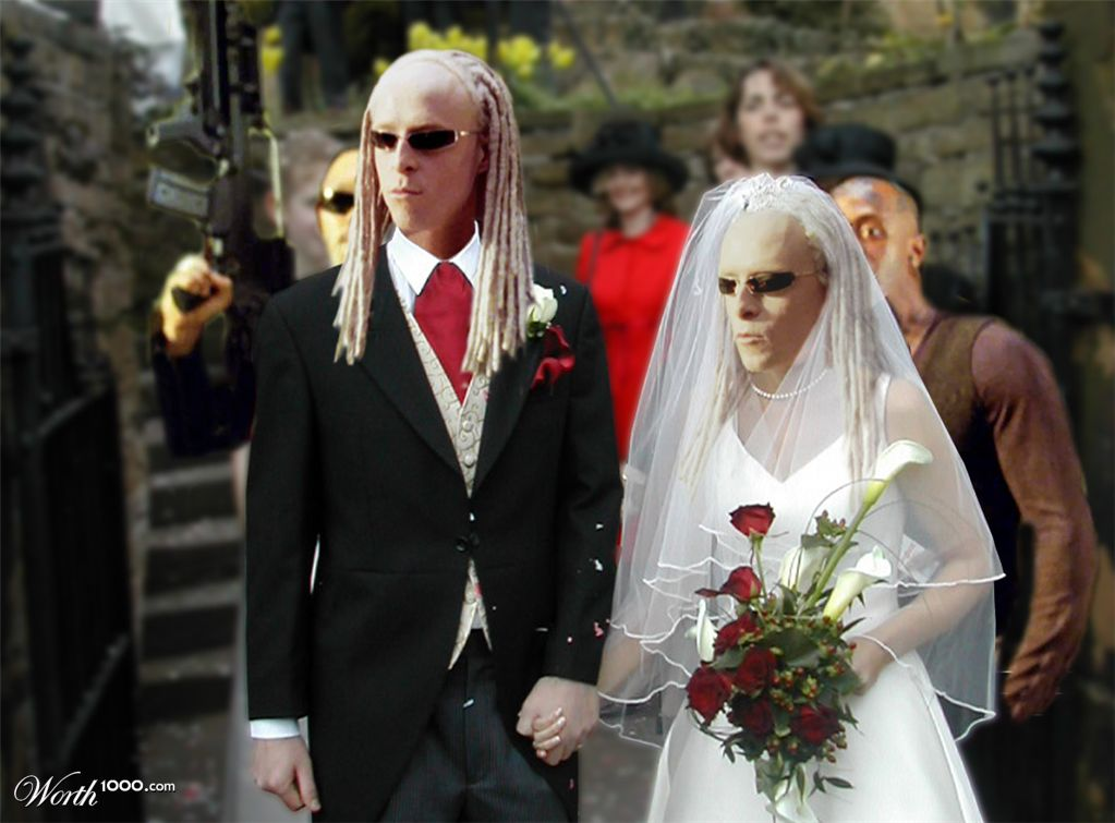 Ugly Wedding Couple Please do not critique my