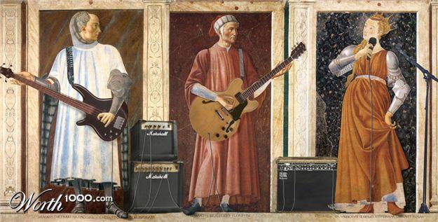 Andrea Del Castagno Dante Portrait by Andrea Del Castagno