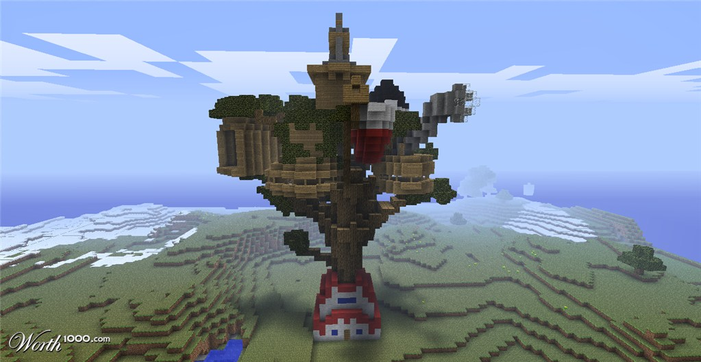 how to build a jungle treehouse in minecraft
