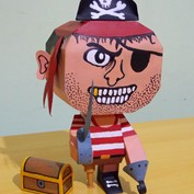 Pirate Paper Toy
