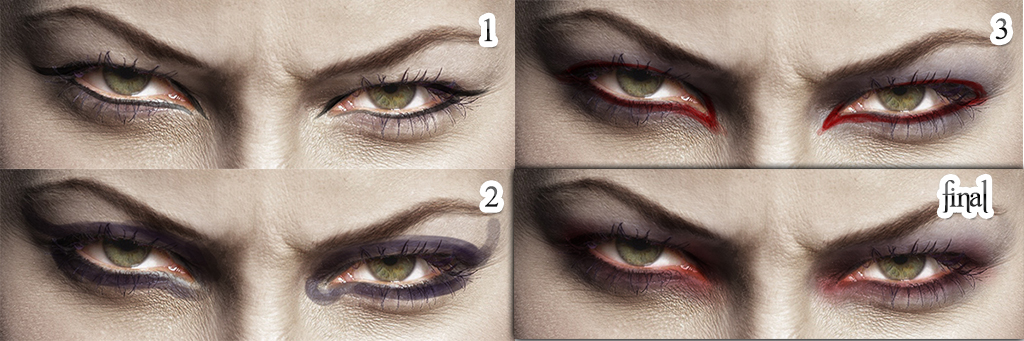 Как себе сделать глаза вампира 148