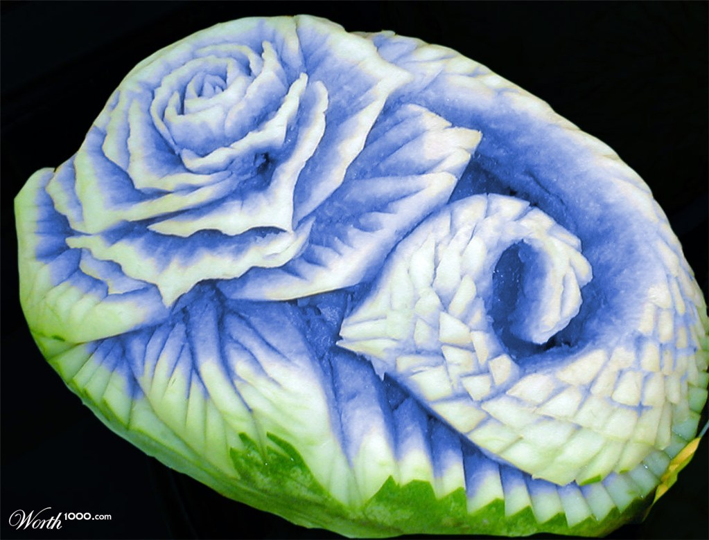 Blue Watermelon Rose - Worth1000 Contests