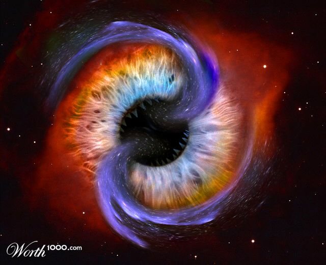 Galaxy Black Hole Eats - Pics about space