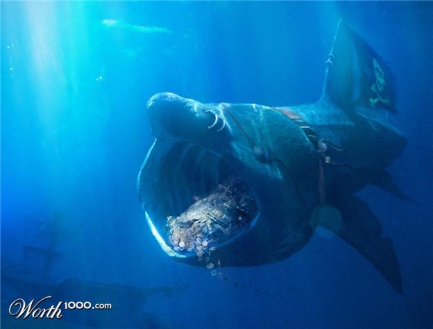 Basking Shark Attack | www.pixshark.com - Images Galleries ...