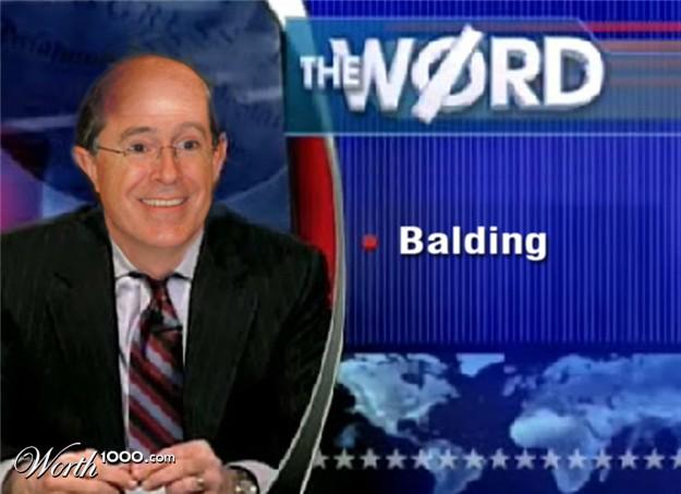 Colbert report shaved head happens