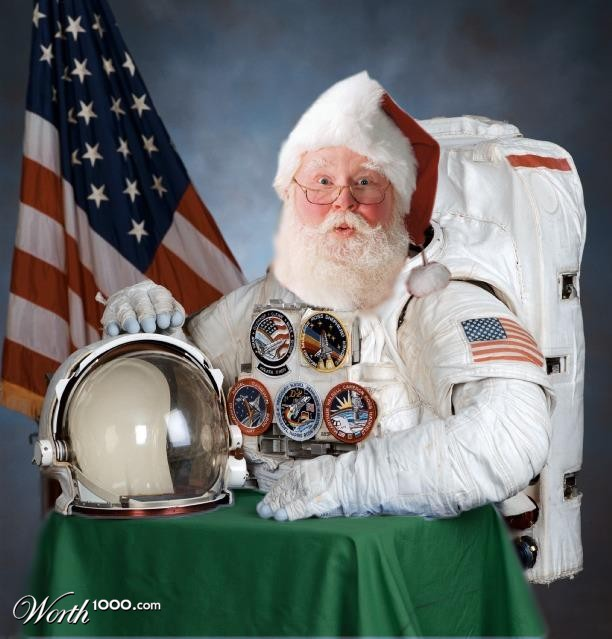 santa in nasa space suit -#main