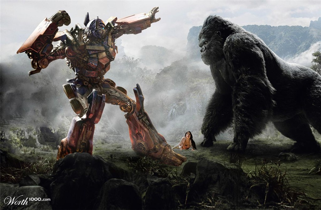King Kong vs Transformers - Worth1000 Contests