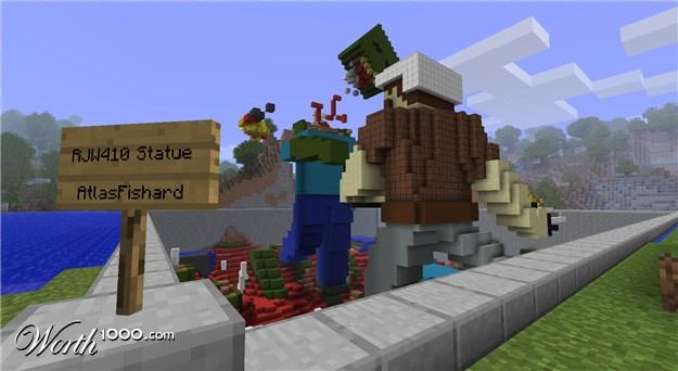 Minecraft   Minecraft ContestsZombie Head Minecraft Statue